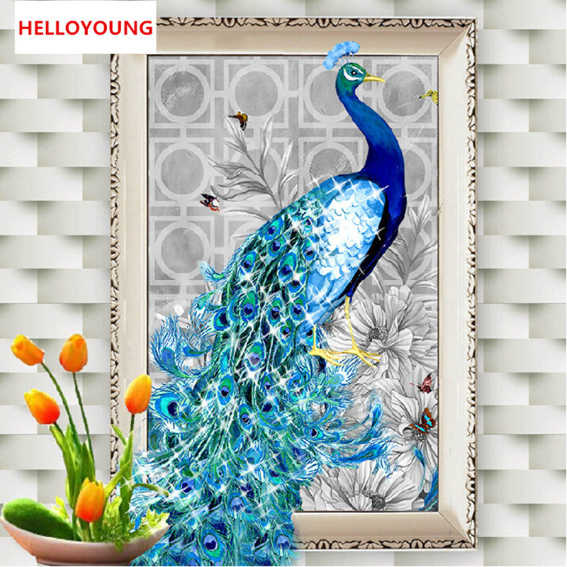 DIY 5D Diamonds Embroidery Diamond Mosaic New Peacock Soul Love Round Diamond Painting Cross Stitch Kits Home Decoration