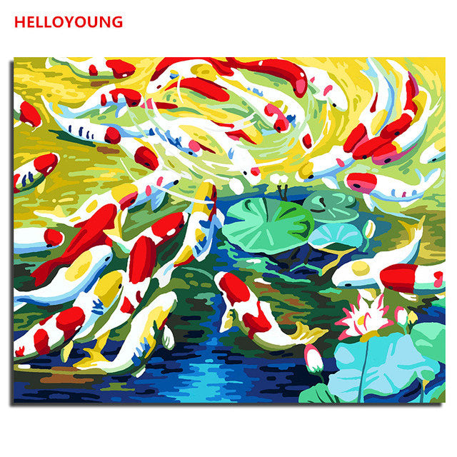 Colorful world Digital Painting Handpainted Oil Painting by numbers oil paintings chinese scroll paintings Home Decoration