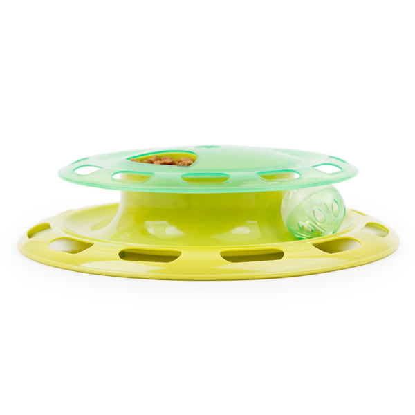 Flying Discs Cat Toy Music Play Can Be Rotated Disc Toys For Cats Plastic Fabric Best Gift to Your Small Pets Dog Cat Toys