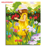 Wildflowers are in full bloom Digital Painting DIY Handpainted Oil Painting by numbers oil paintings chinese scroll paintings