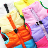 Winter Warm Jacket Pet Dog clothes Windproof Coat Dogs Snowsuit Vest Harness Dog Cachorro Mascotas Clothing