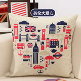 BZ103 Luxury Cushion Cover Pillow Case Home Textiles supplies Lumbar Pillow Character British style  pillows chair seat