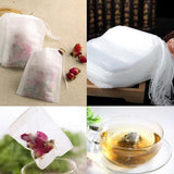 New Tea bags 100 Pcs Lot 5.5 x 7CM Empty Tea Bags With String Heal Seal Filter Paper for Herb Loose Tea bag Clean Health