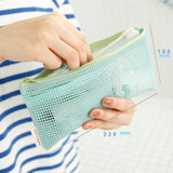 Y200 Travel Nylon Mesh Zipper Wallet Case Cosmetic Makeup Wash Bag Tools Portable Storage Pouch Make Up Tool Organizer