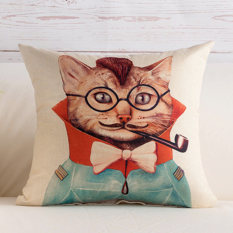 BZ109 Luxury Cushion Cover Pillow Case Home Textiles supplies Lumbar Pillow Mr.cat Pattern decorative throw pillows chair seat
