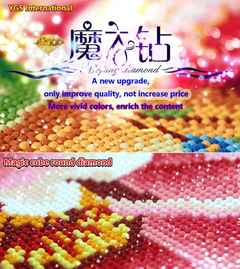 DIY 5D Diamond Mosaic Magic Cube Diamond Painting Cross Stitch Family Harmony Magnolia Rich flowers Diamonds Embroidery