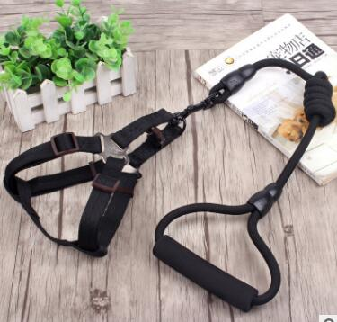 Adjustable Nylon Dog Harness and leash set Pet Vest Rope Dog Chest Strap Leash Set dog Collar Leads Harness leash for small dogs