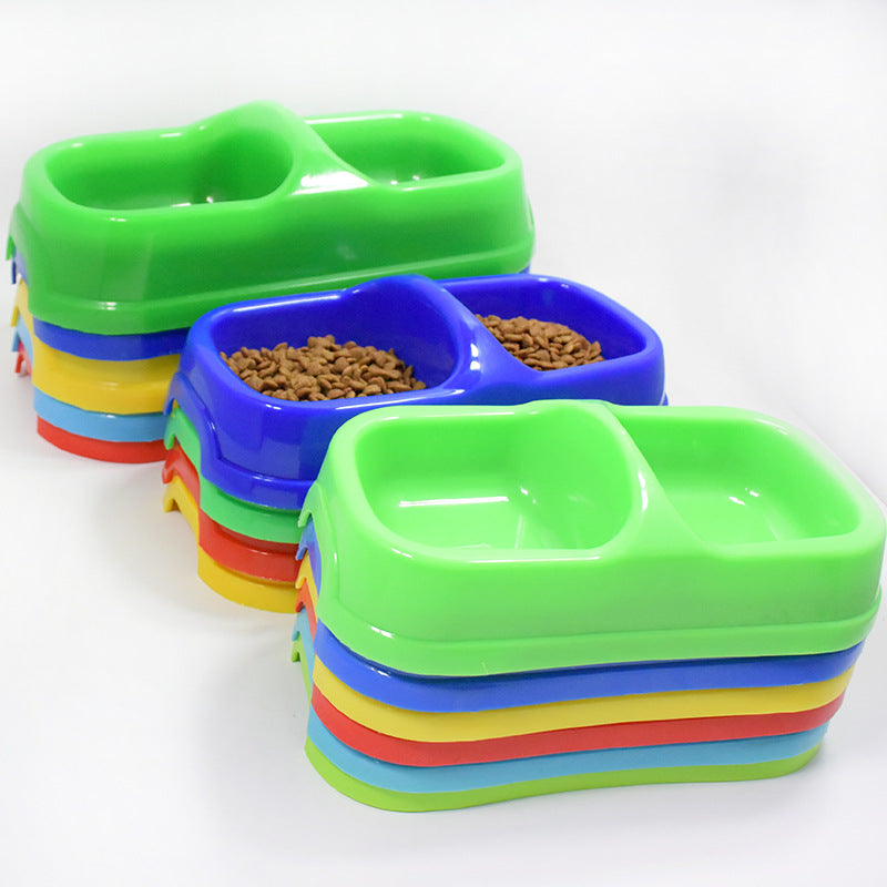 Pet Accessories Bowl pet folding portable Dog Bowls for food the dog drinking water bowls Pet Double Dishes Cat Dog Dispenser