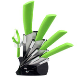 "High quality brand Paring Fruit Utility 3"" 4"" 5"" 6"" inch + peeler + Acrylic Holder Block Chef Kitchen Ceramic Knife Sets"