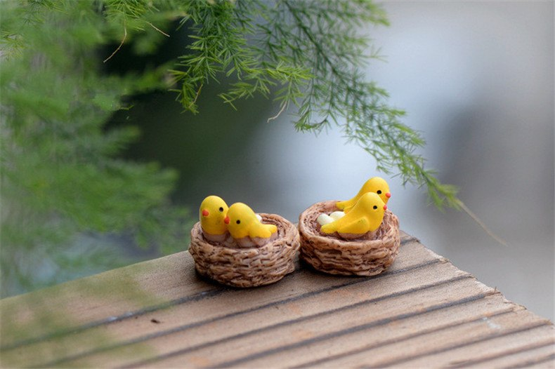 XBJ086 Mini 4pcs Oriole bird Bottle decoration supplies moss micro landscape deco  Garden deco Creative handicrafts
