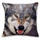 45cm*45cm Animal wolf pattern linen cotton pillow case sofa cushion cover animal design square decorative pillow cover
