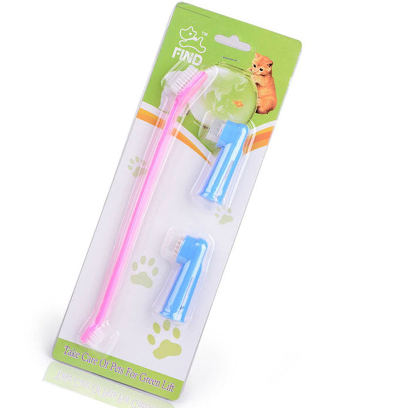 Dog Toothbrush Cleaning Teeth Puppy Dog Finger Toothbrush Dental Care Grooming For Dog Pet Accessories pet cleaning supplies
