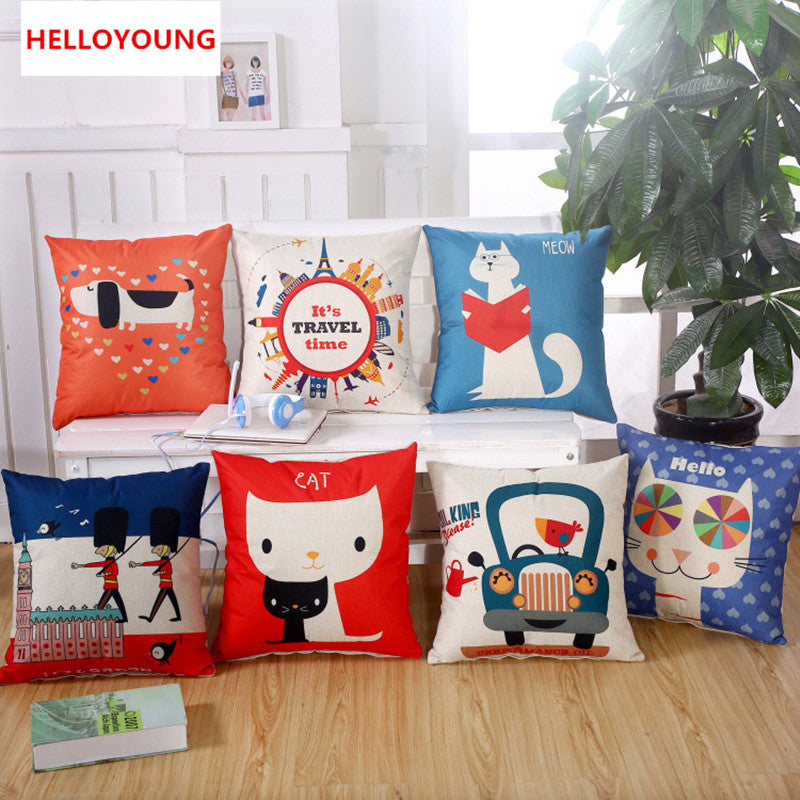 BZ070 Luxury Cushion Cover Pillow Case Home Textiles supplies Lumbar Pillow cartoon style decorative throw pillows chair seat