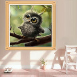 DIY 5D Diamond Embroidery The owl Round Diamond Painting Cross Stitch Kits Mosaic Painting Home Decoration