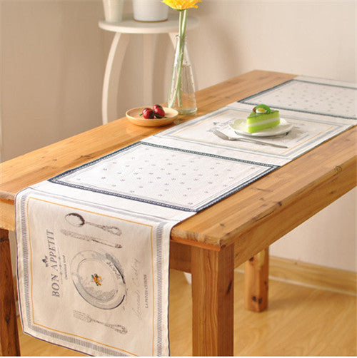 BZ388 French fashion table runner Coffee western side cabinet entrance cover towel table flag