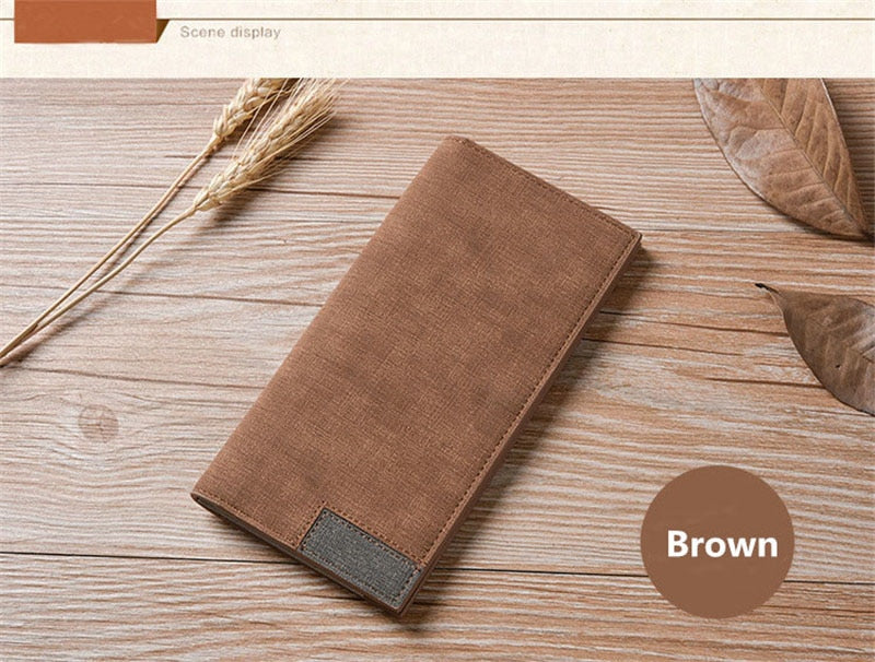 Fashion buttons ultra-thin young High quality PU clutch leather Multi-functional soft leather men's wallet