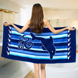 BZ362 Super-absorbent Leopard Print Terry Bath Towel for Adult Bath Swimming Wrap Blanket Quick Dry Pool Sheet Beach Towel