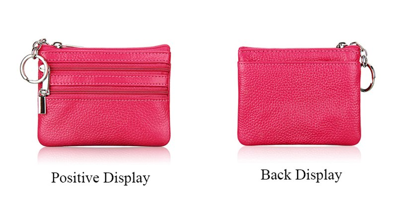 11 Colors Fashion Genuine Leather Women Lady Wallet Clutch Short Small Coin Purse Brand New Soft Solid 3 Zip Square Bag