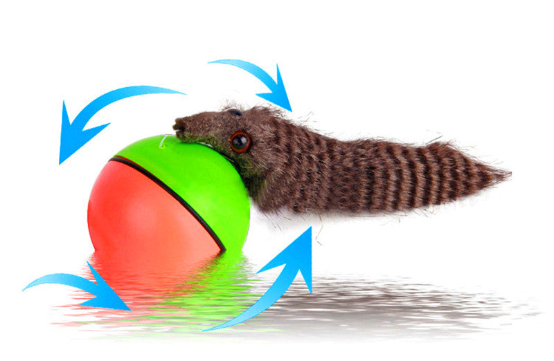 Pet dog Cat Toys Electric Beaver Weasel Toy Rolling Jump Ball Toys for dog Cat Puppy Dog Funny Moving Toy pet Supplies