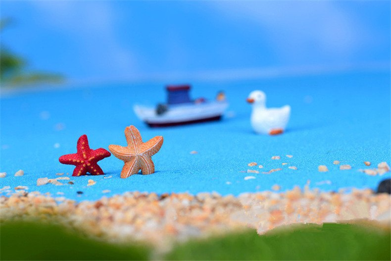 XBJ167 Mini 8pcs Small starfish decoration supplies moss micro landscape deco  Garden deco Creative handicrafts