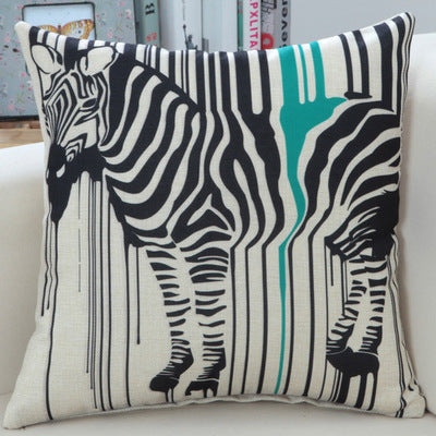 BZ270 Ink color zebra pillow Cushion Cover Pillowcase Sofa/Car Cushion /Pillow  Home Textiles supplies