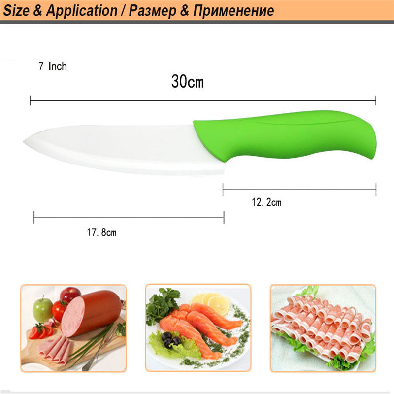 "brand high quality 7"" inch chef kitchen ceramic knife Vegetable ceramic knife"