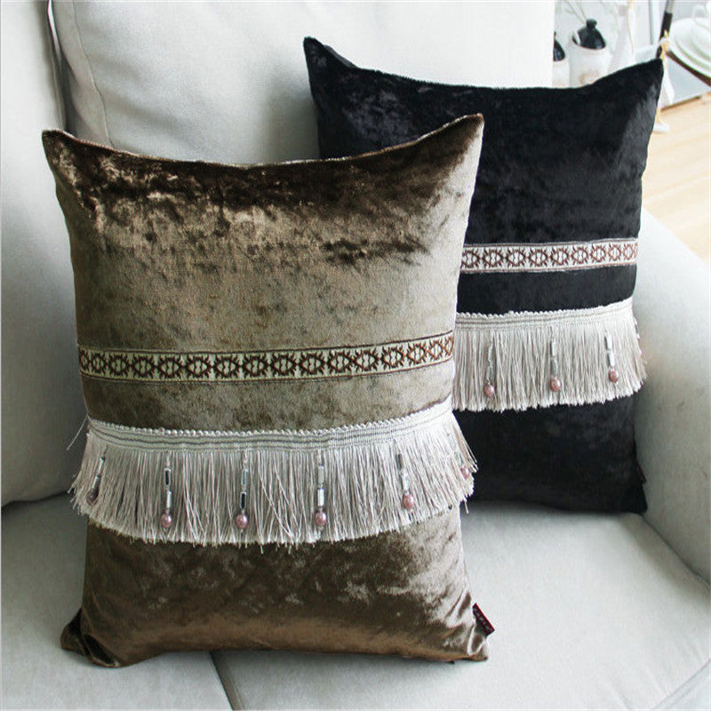 BZ158 Luxury Cushion Cover Pillow Case Home Textiles supplies Simple Aegean Pillowcase Lumbar Pillow Neck pillows chair seat