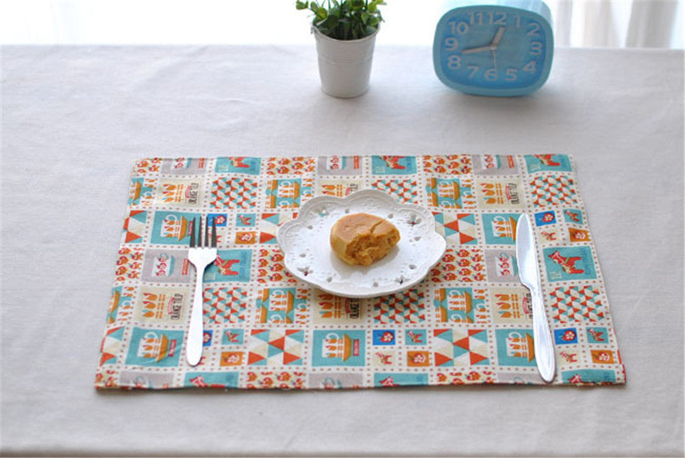 BZ813 Table mats Tableware mats Pads North European style Kaneohe placemat table mat insulation pad double-sided disc mat