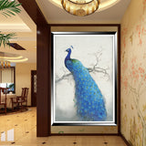 DIY Diamond Embroidery Diamond Mosaic Peacock Soul Round Diamond Painting Cross Stitch Kits rich flowers Home Decoration