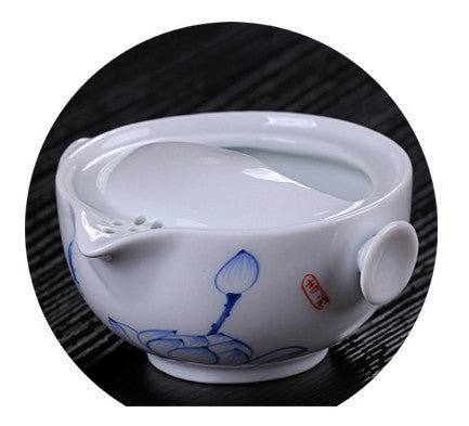 CJ225 Tea set Include 1 Pot 1 Cup, High quality elegant gaiwan,Beautiful and easy kettle teapot Chinese porcelana tea set