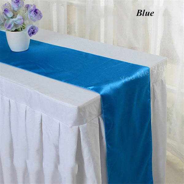 "35 PCS 12/""x108/"" Satin Table Runners Wedding Party Banquet Decoration Made in USA"