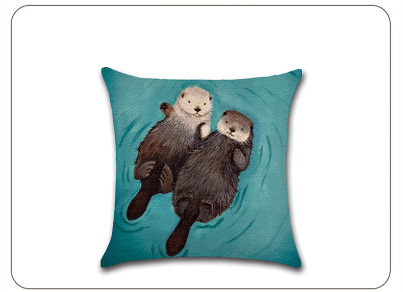 BZ299 Romantic otter Pillow Cushion Cover Pillowcase Sofa/Car Cushion /Pillow  Home Textiles supplies