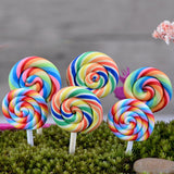 XBJ002 Resin 2 pcs Lollipop Garden Decoration Ornaments Mini Crafts Bonsai Micro Landscape Craft Fairy Garden Miniatures