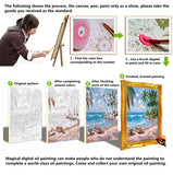 HELLOYOUNG Digital Painting DIY Handpainted Oil Painting Night View by numbers oil paintings scroll paintings picture drawing