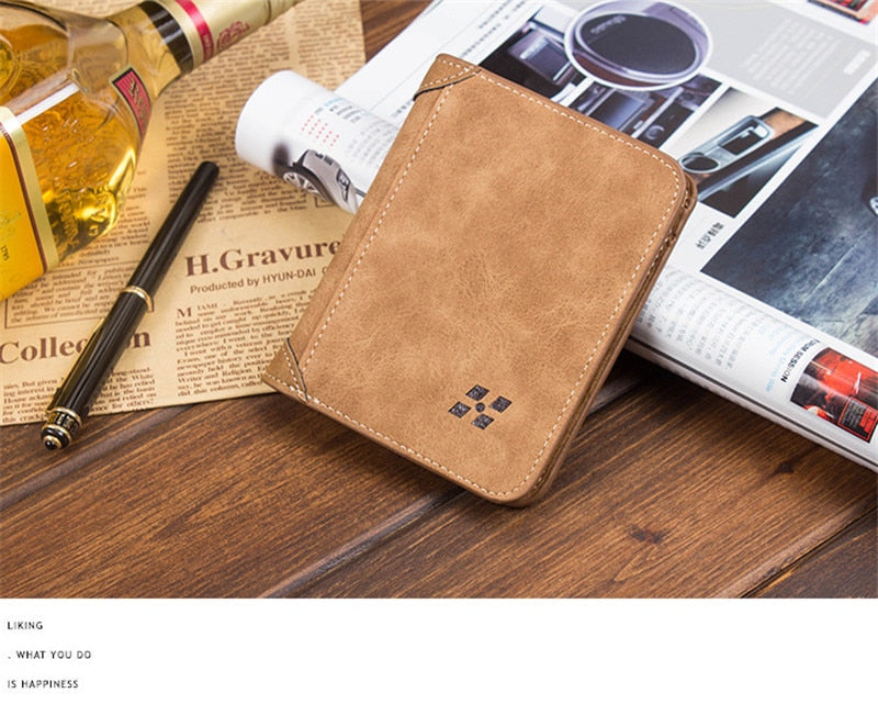 New Vintage High quality PU leather clutch male leather Wholesale ultra-thin fashion casual men's wallet clam