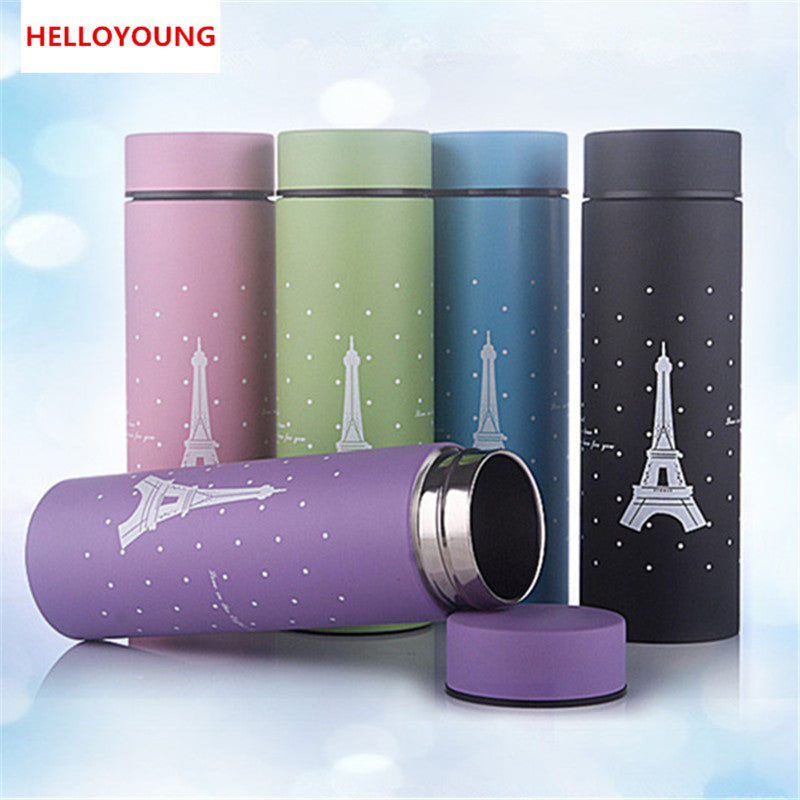 CJ018 Stainless steel Heat insulating bottle Tower Small Straight bottle Creative Water Bottle Portable Drinkware