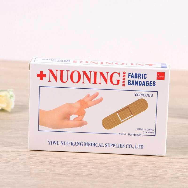 100PCS/Box New Band Aid Wound Dressings Sterile Hemostasis Stickers First Aid Bandage Heel Cushion Adhesive Plaster
