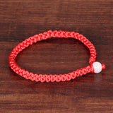 CIFBUY Simple Style Classic Lucky Chinese Braided Red String Rope Cord Bracelet Gift Cheap Price Jewelry HS001