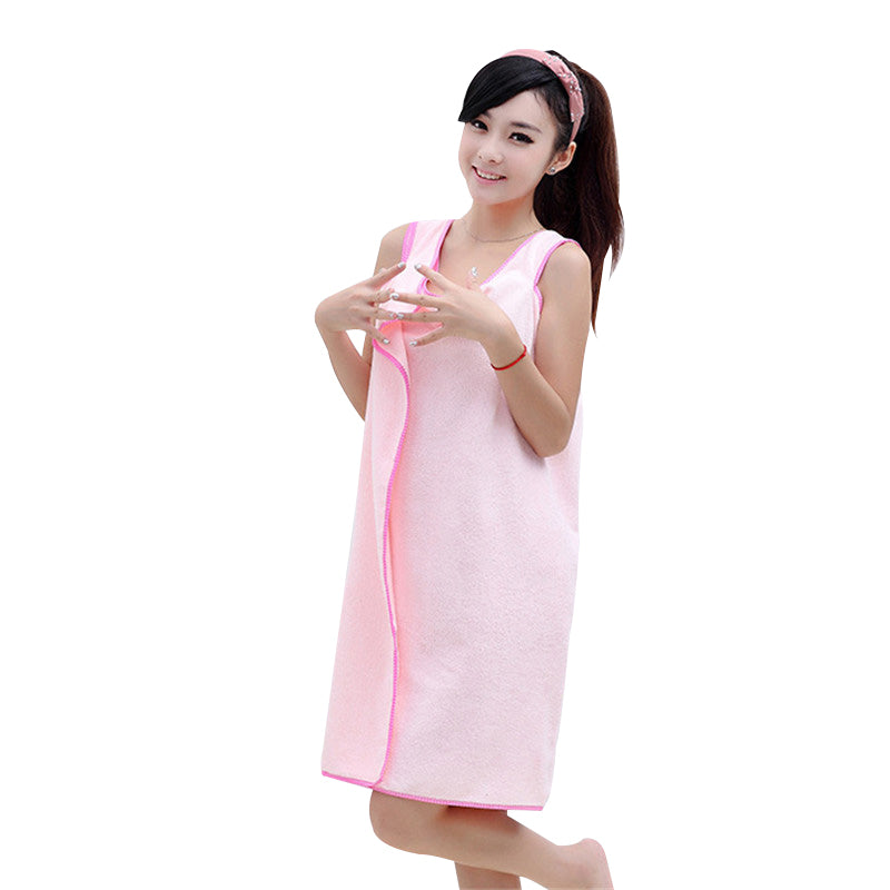 HELLOYOUNG Microfiber Women Sexy Bath Towel Wearable Beach Towel Soft Beach Wrap Skirt Super Absorbent Bath Gown