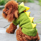 CW017 Pet supplies Dogs clothing Puppy Cat Cute Dinosaur Pretty pet Hoodies Costumes Clothes T shirt fleece pet dog clothes