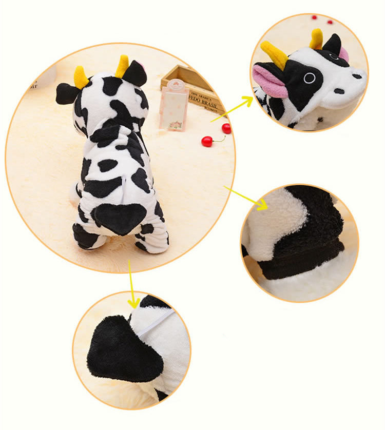 Winter Dog Clothes for Dog Coats Cosplay Clothing for Dog Costume for Hoodie Pet Clothes Cartoon Cows Costumes for Puppy