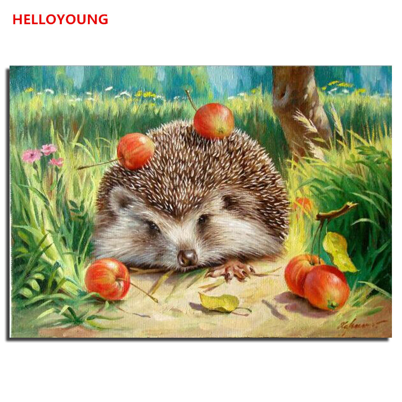 Animal world DIY Painting By Numbers Wall Art Picture Canvas Painting Home Decor Acrylic Paint Living Room Home Decoration