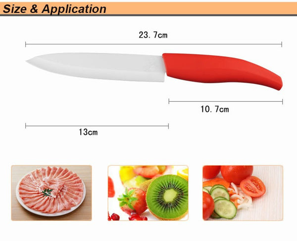 "5"" ceramic kitchen fruit knife"
