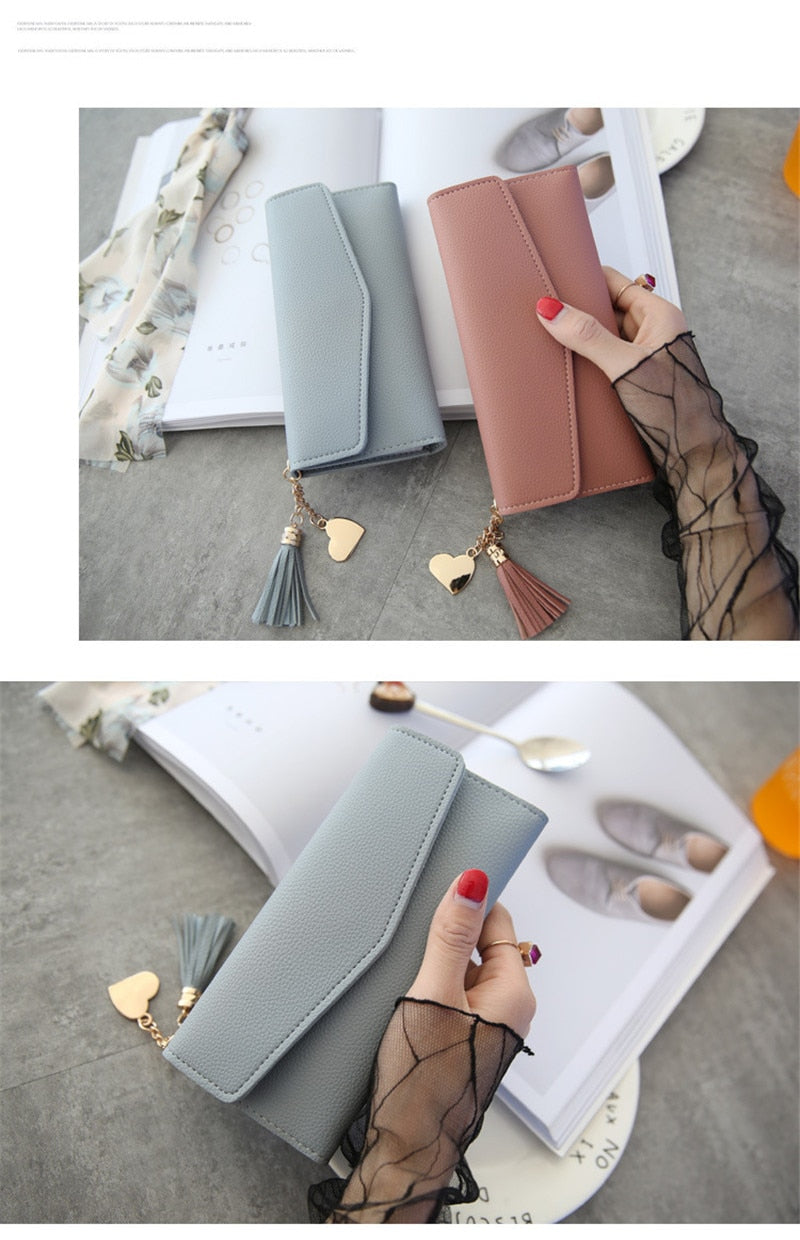 Time-limited Long Polyester Quality Pu Leather Hot Sale Women Wallets Female Bags Id Card Holders Wallet Purses Bolsas
