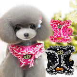 Lovely Cute Small dog Harness Pet Cat Dog Collar For Small Chihuahua Leash Lead Set Dog Vest Pet Harness