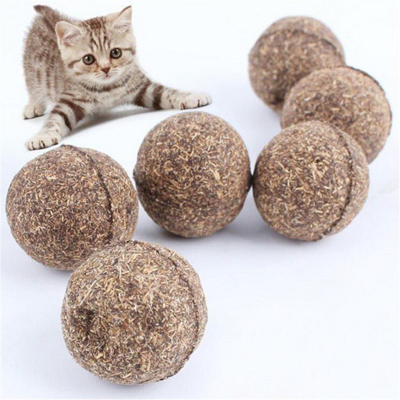 1 pcs Cat Toy Natural Catnip Treat Ball Favor Home Chasing Pet Toys Healthy Safe 100% Edible Treating Dog Cat Training Tools