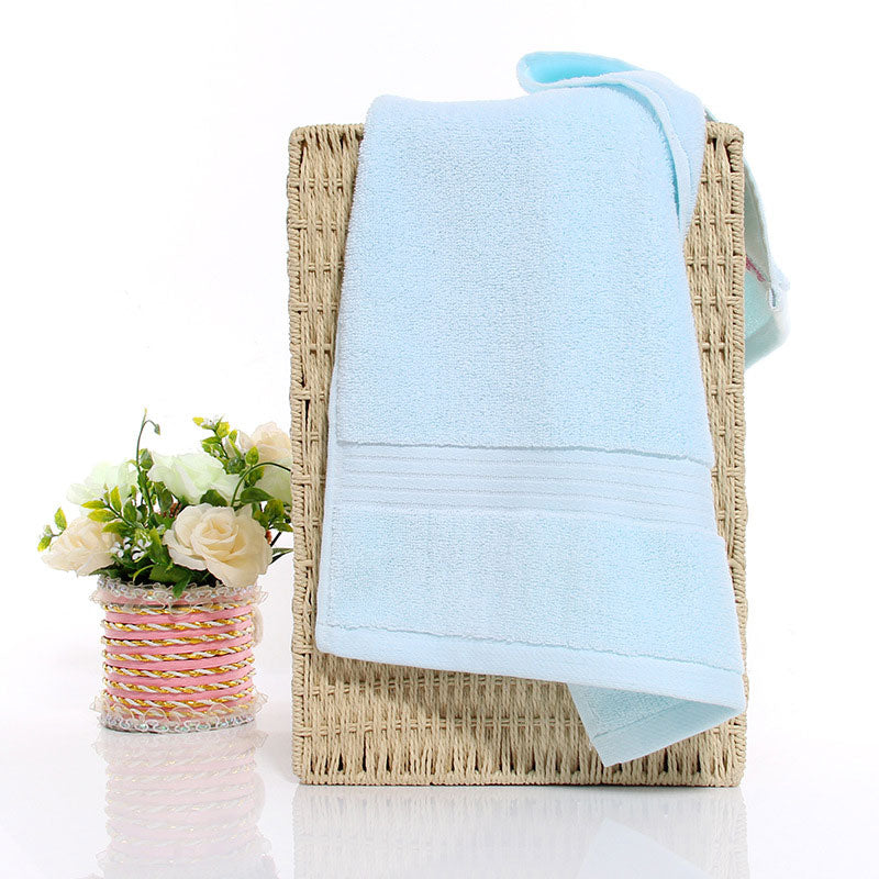 HELLOYOUNG Solid Color 130g Soft Cotton Face Towel For Adults Thick Bathroom Super Absorbent Towel 34x74cm