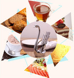 CJ104 Swan Dinnerware sets 7pcs/set wedding party fruit tableware set dinnerware sets
