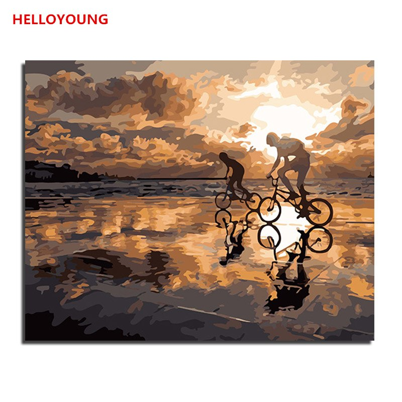 HELLOYOUNG DIY Handpainted Oil Painting Dreams Digital Painting by numbers oil paintings chinese scroll paintings