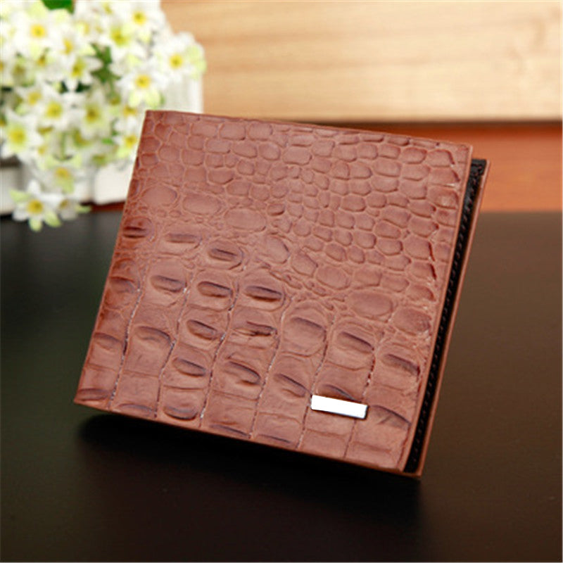 Crocodile pattern leisure folder Suit clip high-quality PU genuine Fashion long section Card & ID Holders